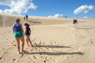 Incredible sand dunes not far from Santa Cruz