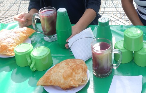 Api and pastel - traditional breakfast